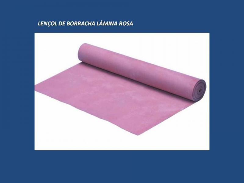 Indústria de lençol de borracha